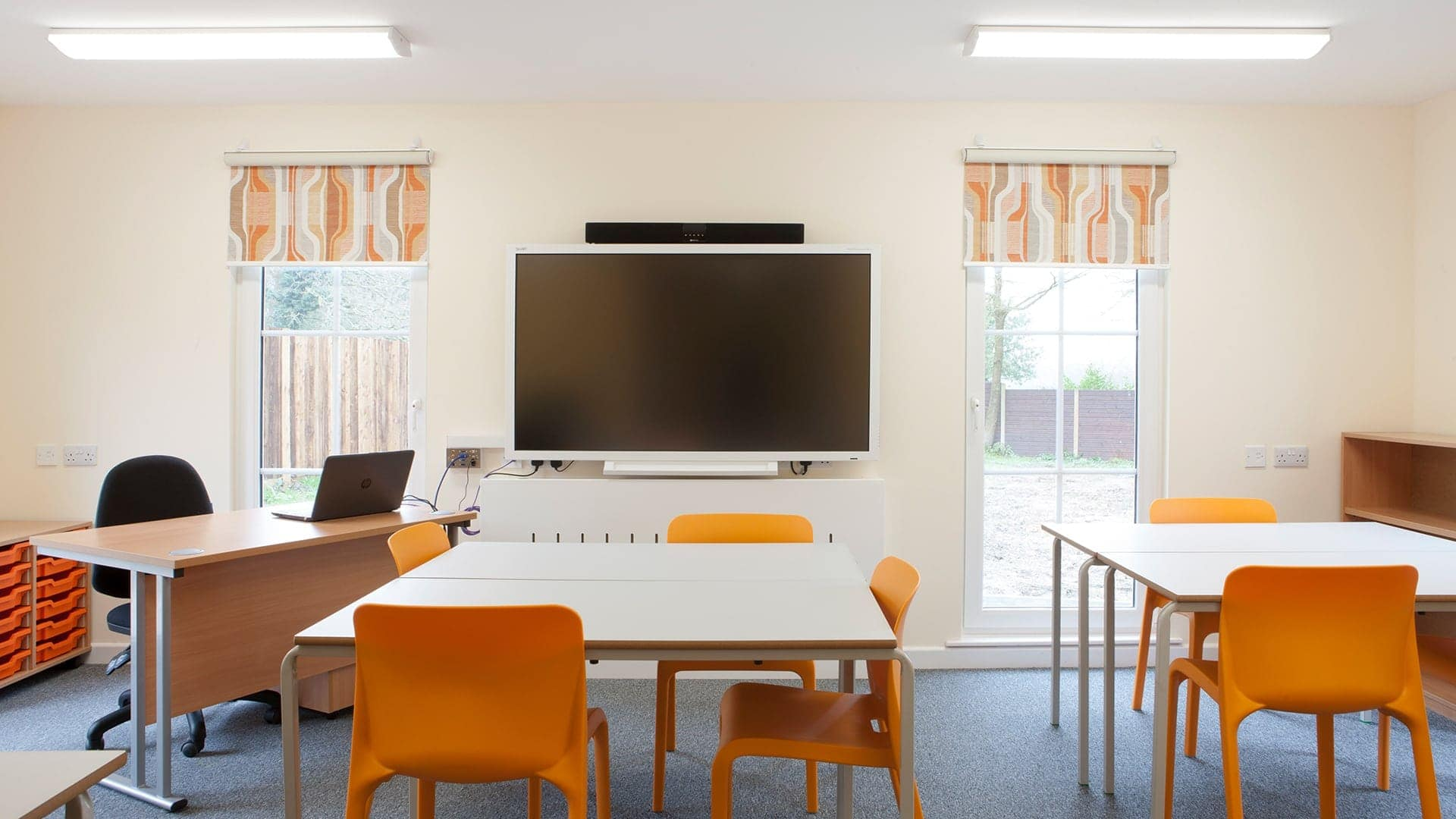 fire retardant school blinds
