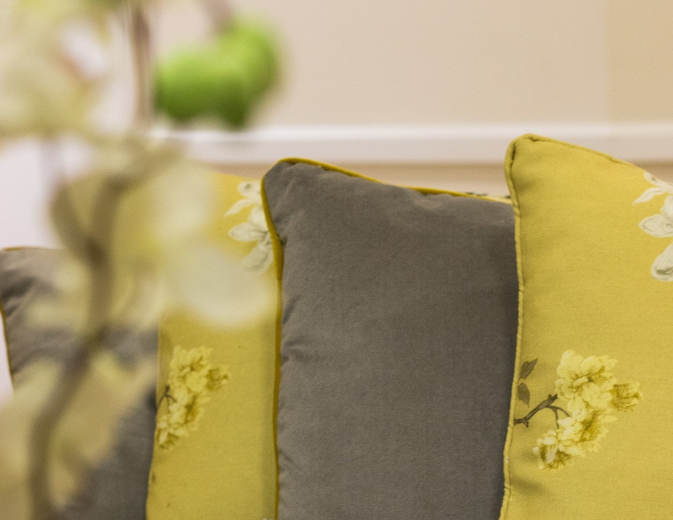 Yellow soft furnishings