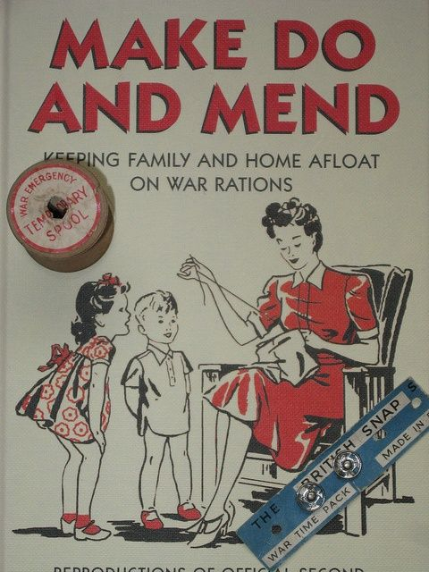 Make do and mend soft furnishing poster